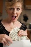 Geld in der Post Stockbilder