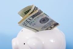 Geld in der Querneigung lizenzfreie stockfotografie