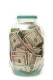 Geld in der Querneigung Lizenzfreies Stockbild