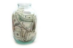 Geld in der Querneigung Stockfotografie