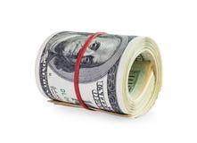 Geld in der Rolle Stockbilder