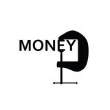 Geld in der schwarzen Kunst Lizenzfreies Stockfoto