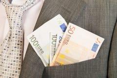 Geld in der Tasche Lizenzfreies Stockfoto
