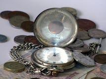 Geld der Zeit stockbilder