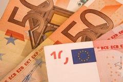 Geld des Euro fünfzig und 10 Stockfotos