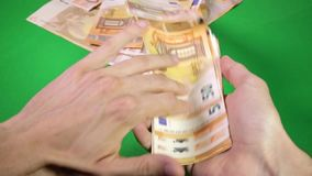 Geld des Euro-50 stock video footage