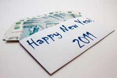 Geld des neuen Jahres Stockfotos