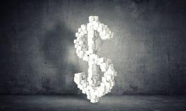 Geld die concept, het 3d teruggeven maken Royalty-vrije Stock Afbeeldingen