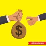 Geld die illustratie maken stock illustratie