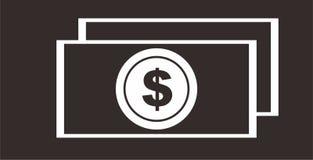 Geld-Dollar-Ikonen-Illustration Stockfotografie
