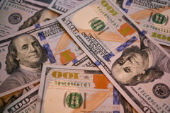 Geld 100 dollars Stock Foto's