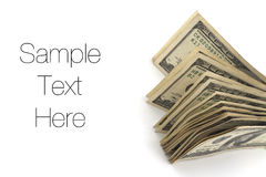 Geld, Dollarscheine Lizenzfreie Stockbilder