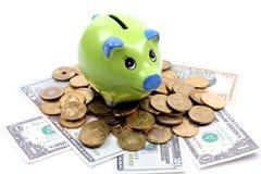 Geld-doos Stock Foto