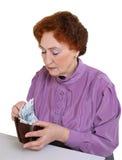 Geld in een beurs Stock Fotografie