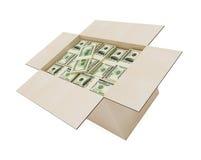 Geld in een doos Royalty-vrije Stock Foto