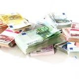 Geld in een hoop - stapel royalty-vrije stock afbeelding