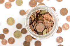 Geld in een kruik Stock Foto's
