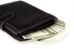 Geld in een portefeuille Stock Fotografie
