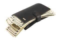 Geld in een portefeuille. Stock Fotografie