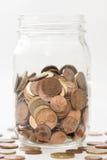 Geld in einem Glas Lizenzfreies Stockbild