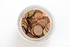 Geld in einem Glas Stockfotografie