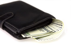 Geld in einer Mappe Stockfotografie