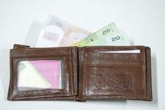 Geld in einer Mappe Lizenzfreies Stockbild