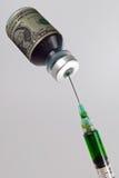 Geld-Einspritzung Stockfoto