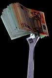 Geld en aap-moersleutel Stock Afbeelding