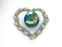 Geld en aarde Royalty-vrije Stock Foto's