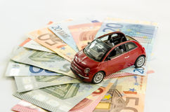 Geld en autoconcept Stock Fotografie