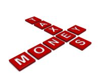 Geld en belastingenraadsel royalty-vrije illustratie