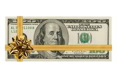Geld en boog stock foto