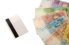 Geld en creditcard Stock Afbeelding