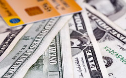Geld en creditcard Royalty-vrije Stock Foto