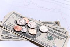 Geld en financiële grafiek royalty-vrije stock afbeelding