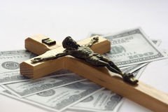 Geld en godsdienst royalty-vrije stock afbeeldingen
