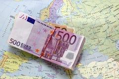 Geld en kaart Royalty-vrije Stock Foto