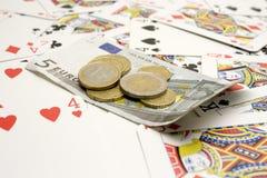 Geld en kaarten Stock Afbeelding