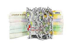 Geld en ketting royalty-vrije stock afbeelding