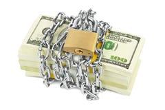 Geld en ketting royalty-vrije stock fotografie