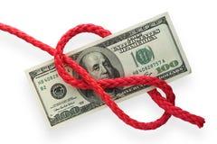 Geld en knoop 02 Stock Afbeelding