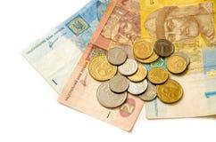 Geld en muntstukken Royalty-vrije Stock Afbeelding