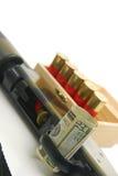 Geld en oorlog Royalty-vrije Stock Foto's