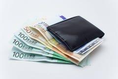 Geld en portefeuille Royalty-vrije Stock Afbeelding