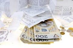 Geld en rekening Stock Fotografie