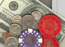 Geld en Tekenen Stock Foto