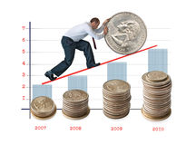 Geld en verhoging van het kapitaal. stock foto's