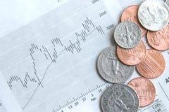 Geld en voorraden stock fotografie