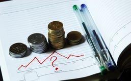 Geld en vragen royalty-vrije stock afbeeldingen